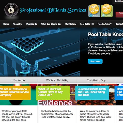 Moxxy Creative | Testimonial ATL Pool Table Movers  Moxxy Web Design Customer Atlanta Copy